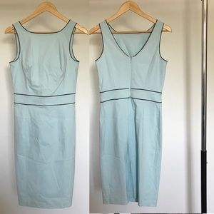 Express Light Blue Sheath Stretch Dress